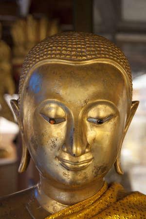 spirituell: Face little buddha Stock Photo