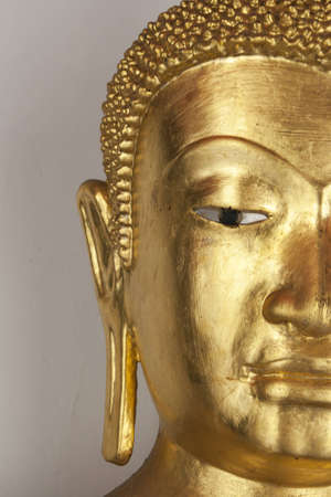 spirituell: Half Face Golden buddha