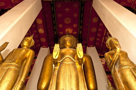 Statue of Buddha image style Located behind the principal  photo