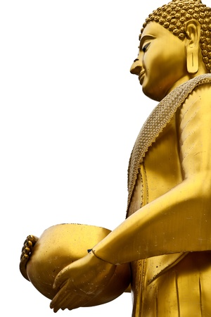 buddha half body bowl in hand photo
