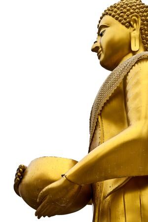 medio cuerpo de Buda plato en la mano Foto de archivo