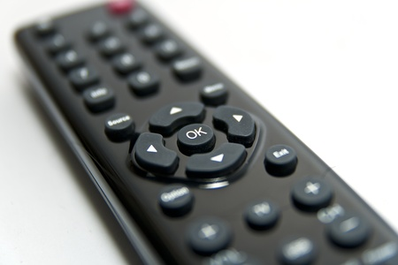 ok button on black remote control