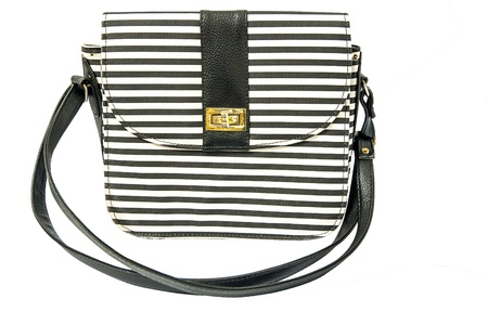 Black and white lady bag