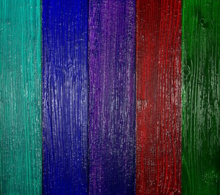 paint chipping: Different colorful wooden wall i imagine of amazing color Stock Photo