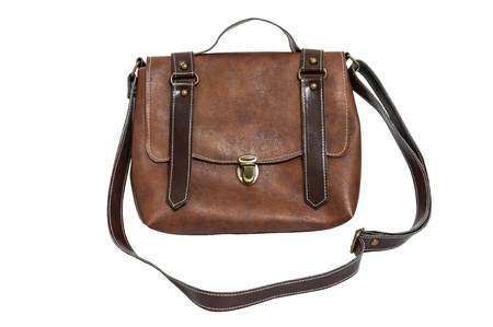 Leather lady bag vintage style