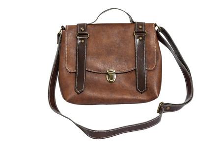 Leather lady bag vintage style