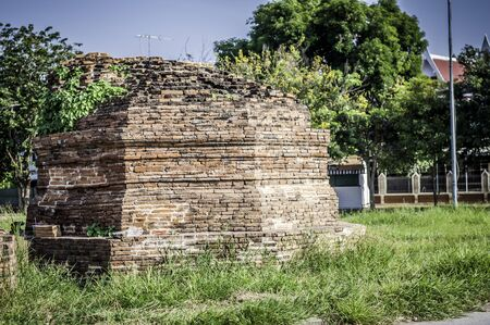 Pagoda in Ayutthaya Historical Park , Thailand  Stock Photo