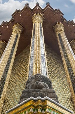 spirituell: Buddha image style on white background   Stock Photo