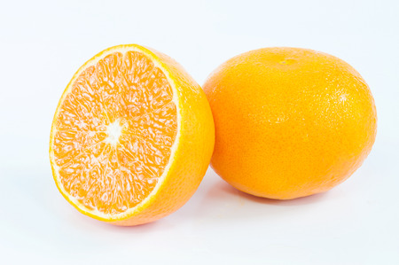 orange w clipping path on whitebackground Stock Photo
