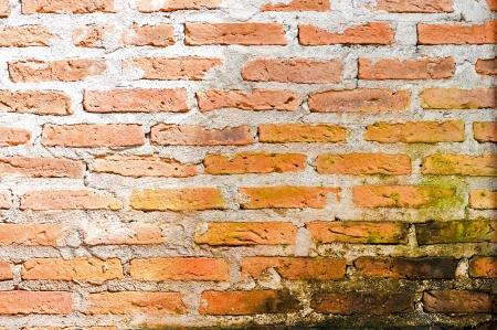 Detalle de la pared de ladrillo gris-marr�n