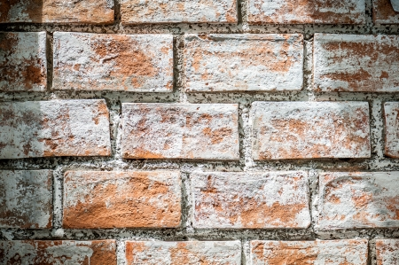 Detail of Gray-brown brick Wall photo