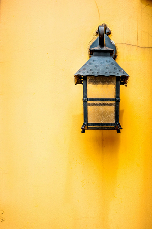 White Lamp on vintage wall photo