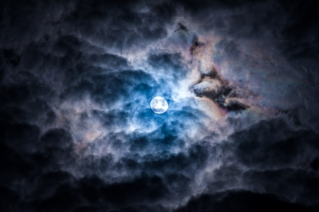 Dramatic Sky and moon photo