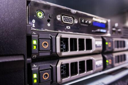 server farm: Servers in a Data center room .