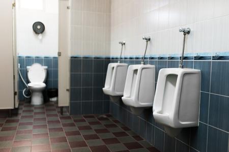 Public Restroom on soft light Stock Photo