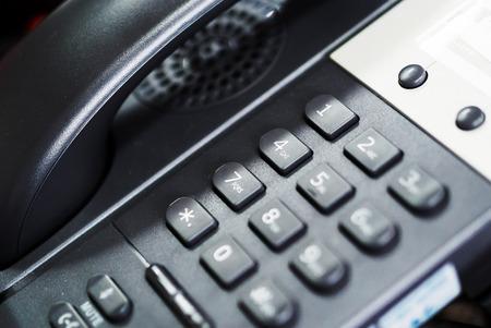 Un tel�fono IP en una luz suave Foto de archivo