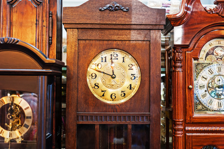 time clock: An Antique Clock old time passing .