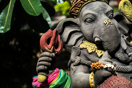An Ganesha made of stone in Thailand . photo