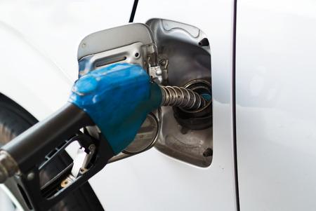 fuel pumps: Fuel pumps in soft light .
