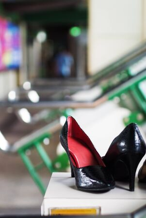 An High Heels Shoes in soft light . Stock Photo