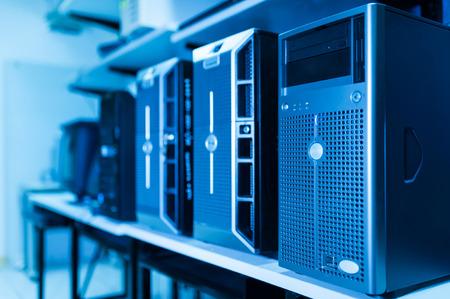 Computer Network servers in data room .