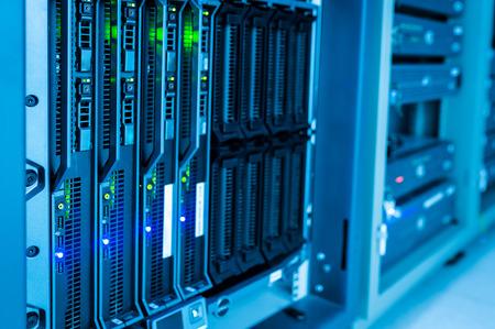 Network servers in data room . Standard-Bild
