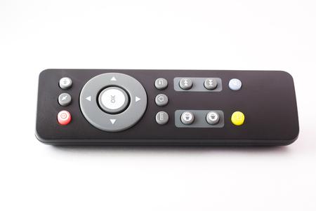 Una TV a distancia a la luz del estudio. Foto de archivo