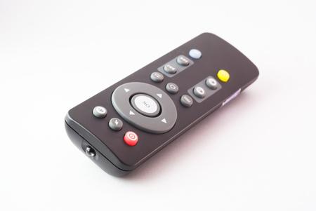 An Remote TV in studio light . Stock Photo