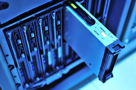 centro de computo: Una servidores de red en sala de datos.