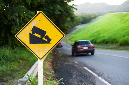 steep: An Steep sign symbol warning dangerous . Stock Photo
