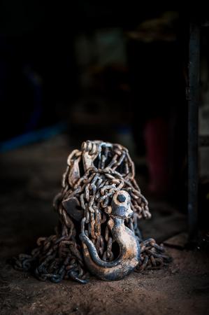 polea: vieja polea de la naturaleza muerta. Objeto Foto de archivo