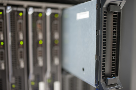 network server: An Network servers in data room . Stock Photo