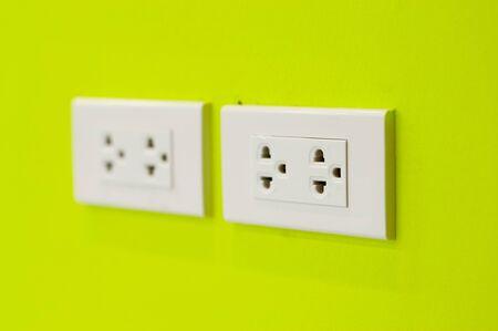 plug socket: An Plug socket in modern place .