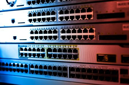 background information: Core switch technology in network room place .