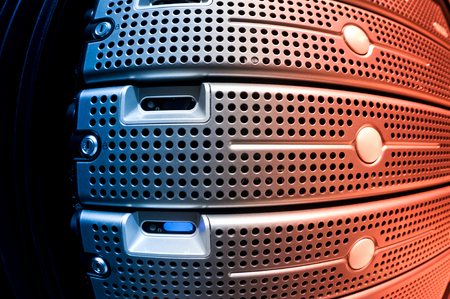 office supply: An Network servers in data room . Stock Photo