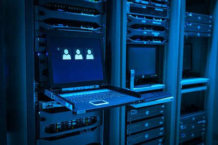 An Network servers in data room . Stockfoto