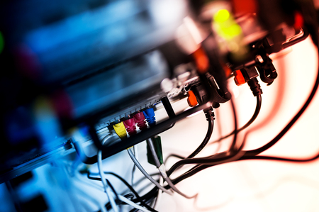 power concept: An Network servers in data room . Stock Photo