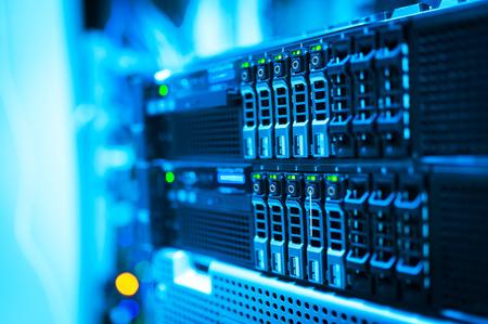 tecnolog�a informatica: Una servidores de red en sala de datos.