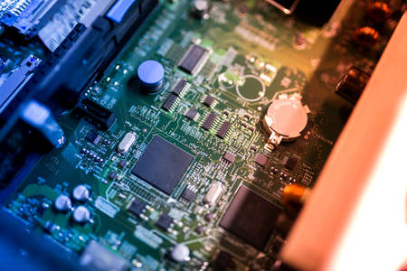 An Cutcuit electronic on motherboard . Stock Photo