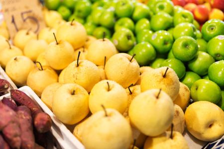 market place: An Fresh pear in market place .