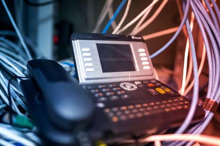 IP: IP phone in network room .