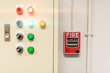 fire door: Fire Alarm near fire door .
