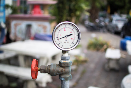 An Meter metering with soft light . Stock Photo