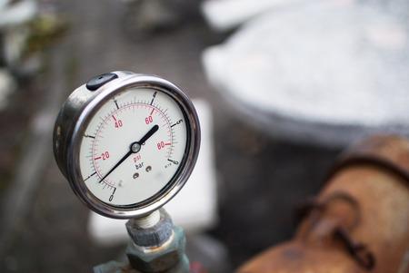 metering: An Meter metering with soft light . Stock Photo