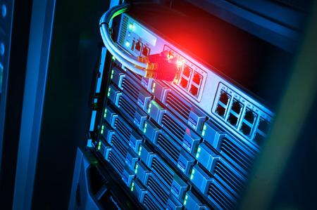 Netwerkservers in dataroom Woonruimte.