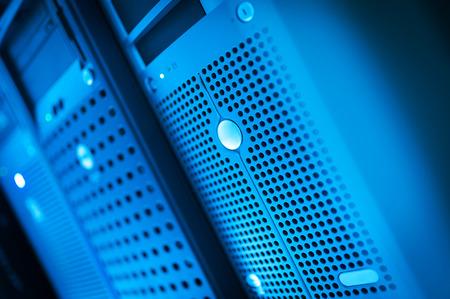 Netzwerk-Server in Datenraum Wohnraum.
