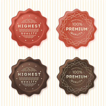 wax stamp: Highest quality and 100% premium labels. Badges template set.