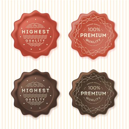 sello: La más alta calidad y 100% etiquetas premium. Insignias plantilla de conjunto.