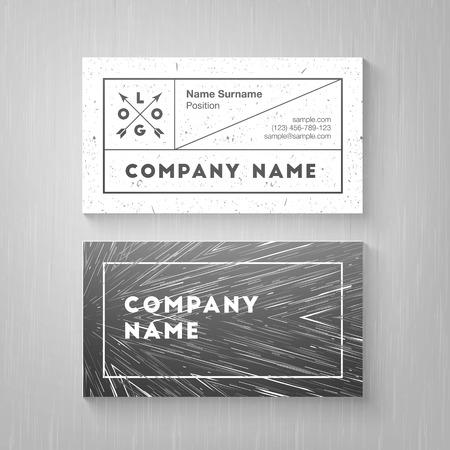 Trendy business card template. High quality design element Иллюстрация