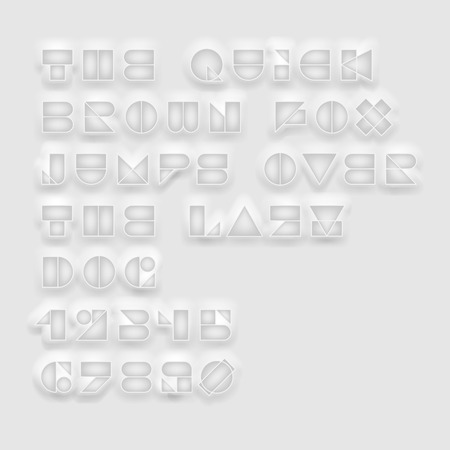 geometric cutout white font. High quality design elements